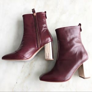 L'Intervale Leather Heeled Boots, size 36